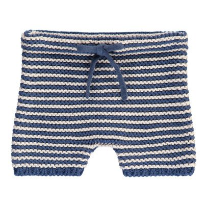 Bonton Striped Moss Stitch Jumper-product