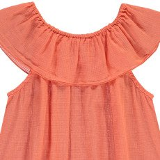 Bonton Lightness Checked Ruffle Top-listing
