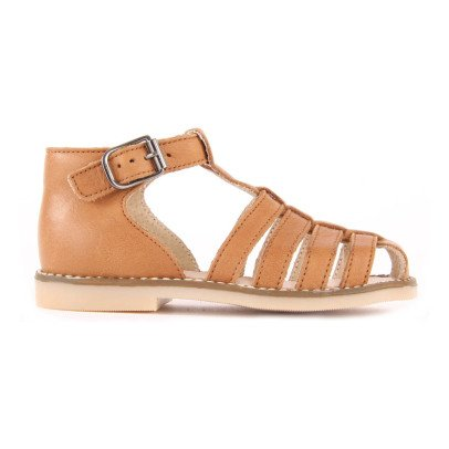 Little Mary Joyeux Leather Sandals-listing