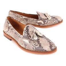 Anthology Paris Evans Snakeskin Moccasins-listing