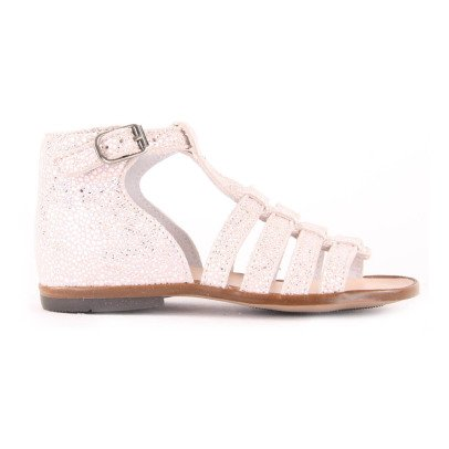 Little Mary Hosmose Leather Glitter Sandals-listing