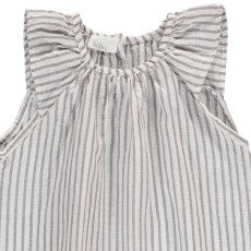 Buho Sol Striped Linen and Cotton Dress-listing