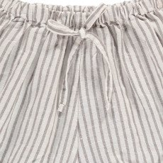 Buho Keke Striped Linen and Cotton Shorts-listing