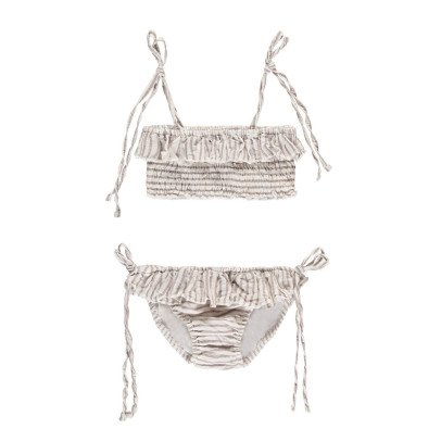 Buho Thelma & Louise Striped Linen & Cotton 2 Piece Swimsuit-listing