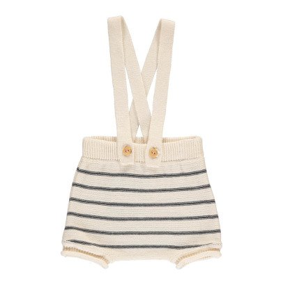 Buho Ricky Striped Knit  Bloomers with Straps -listing