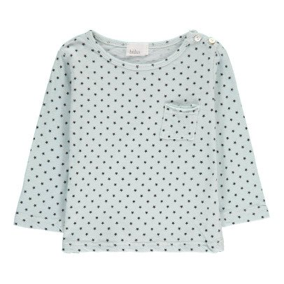 Buho T-Shirt aus Baumwolle und Leinen Sterne Sunny -listing
