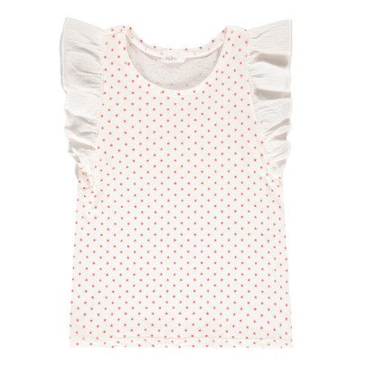 Buho Venecia Star Ruffled Linen and Cotton Blouse-product