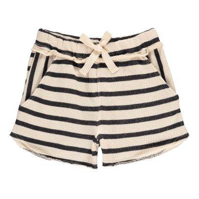 Buho Dani Striped Fleece Shorts-product