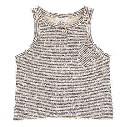 Buho Milan Striped Japonese Cotton Vest Top-product