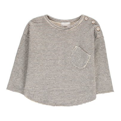 Buho Milu Striped Japonese Cotton T-Shirt-listing