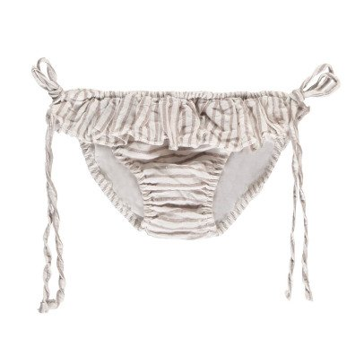 Buho Louise Striped Linen & Cotton Swimming Bottoms-product