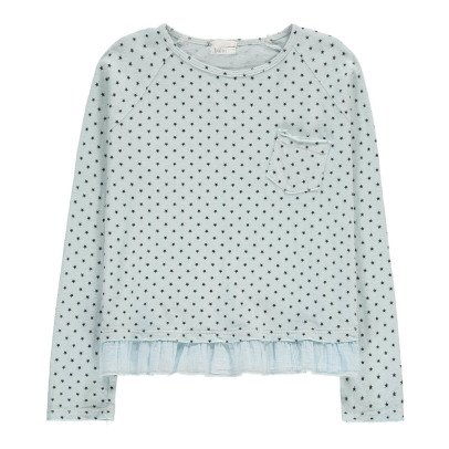 Buho Beatrice tar Ruffle Linen & Cotton T-Shirt-listing