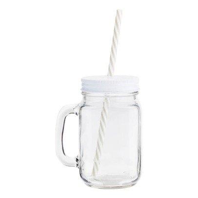 Madam Stoltz Glass with Straw-listing