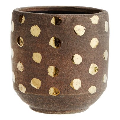 Madam Stoltz Terra Cotta Dotted Trinket Box-product