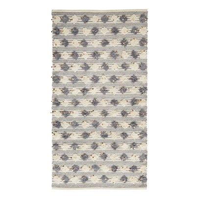 Madam Stoltz Tappeto con pompons e paillettes 70x120 cm-listing