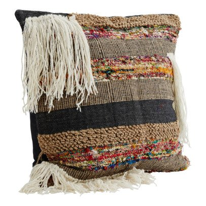 Madam Stoltz Ethnic Fringed Cushion Cover-product