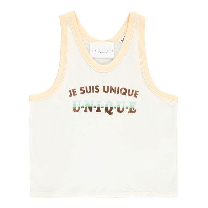 "UNE FILLE today I am ""Unique"" Vest Top-listing"