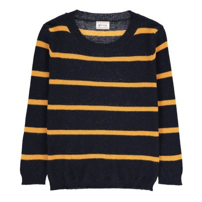 Morley Ferdi Striped Cotton and Cashmere Jumper-listing