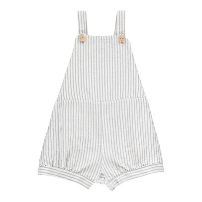 Buho Mila Striped Linen & Cotton Dungaree Playsuit-product