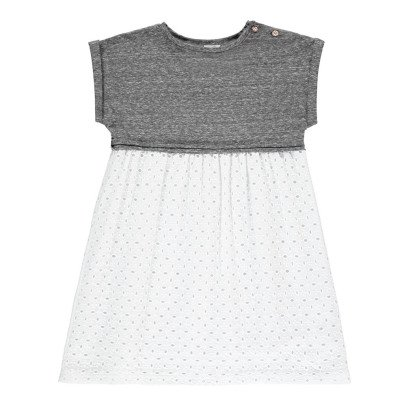 Buho Robe Bi-matières Broderie Anglaise Grace-listing