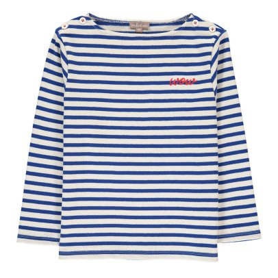 "Emile et Ida ""Wow"" Striped Sweatshirt-listing"