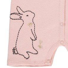 Emile et Ida Mila Embroidered Rabbit Playsuit-product
