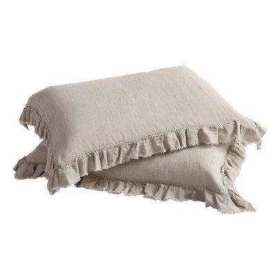 Maison de vacances Funda de almohada lino lavado Boho-listing