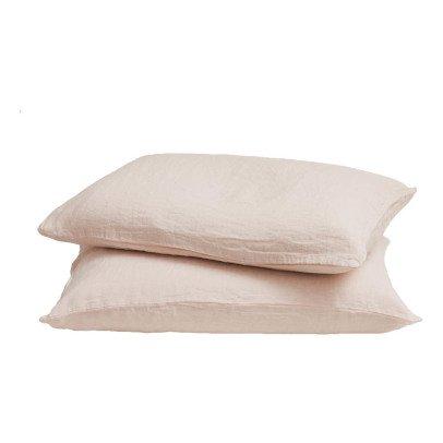Maison de vacances Taie d'oreiller lin lavé-listing