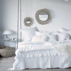 Maison de vacances Taie d'oreiller lin lavé Boho-listing