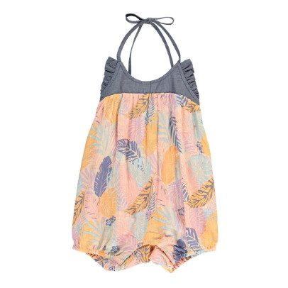 Lulaland Cindy Organic Cotton Tropical Romper-listing