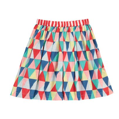 Lulaland Jupe Coton Bio Triangles Frances-listing