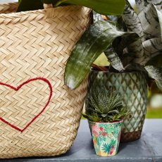 Rice Vaso tropical de melamina-listing
