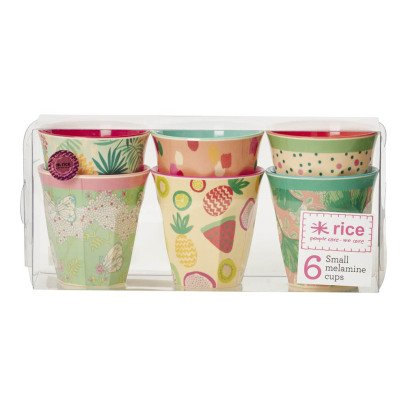 Rice Today is Fun Melamine Cups - Set of 6-listing