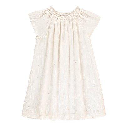 Velveteen Gestreiftes Kleid Lurex Sterne Amelia -listing