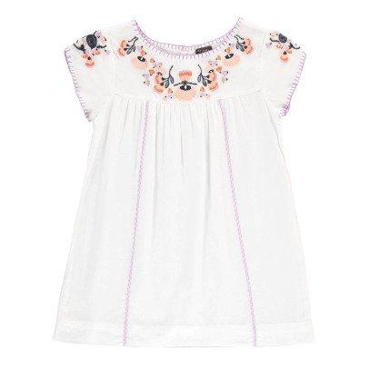 Velveteen Sofia Floral Embroidered Dress-listing