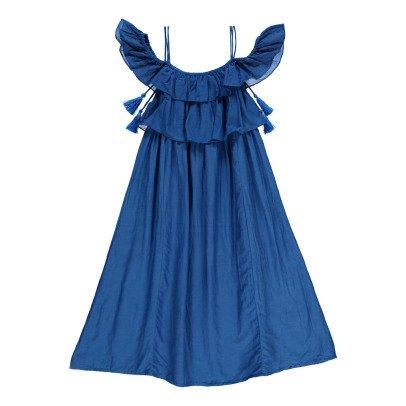 Velveteen Maxi Dress aus Baumwolle und Seide Lexi -listing