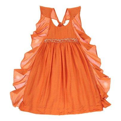 Velveteen Kleid aus Baumwolle und Seide Amber -listing
