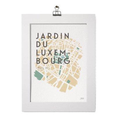 Kerzon Affiche et passe partout - Jardin du Luxembourg-listing