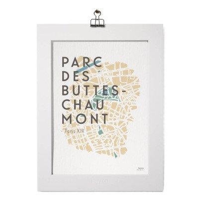Kerzon Póster y paspartú - Buttes Chaumont-listing