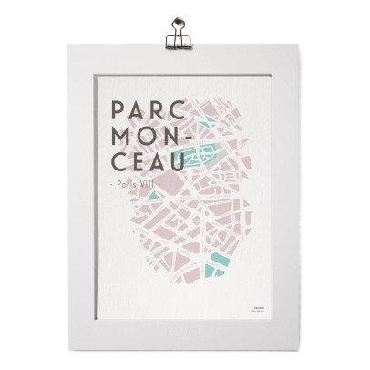 Kerzon Póster y paspartú - Parc Monceau-listing