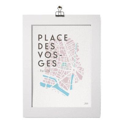 Kerzon Poster e passe partout - Place des Vosges-listing