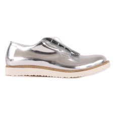 product-Gallucci Fringed Metallic Leather Derbies
