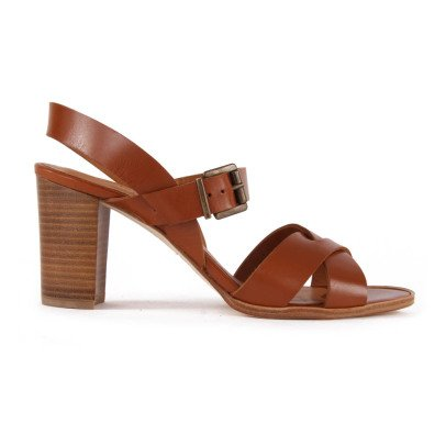 Anthology Aline Leather Heeled Sandals-listing