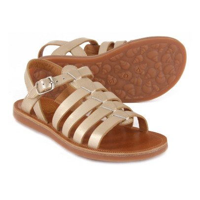 Pom d'Api Strap Metallic Leather Sandals-listing