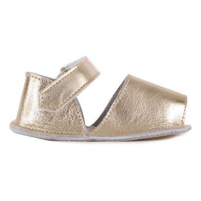 Minorquines Sandalias Velcro Metalizadas Frailera-listing
