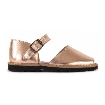 Minorquines Frailera Metallic Buckled Sandals-listing