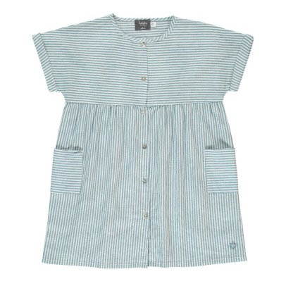Tocoto Vintage Robe Chemise Rayée-listing