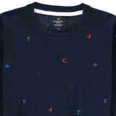 Hackett Multicolour Letter Jumper-listing