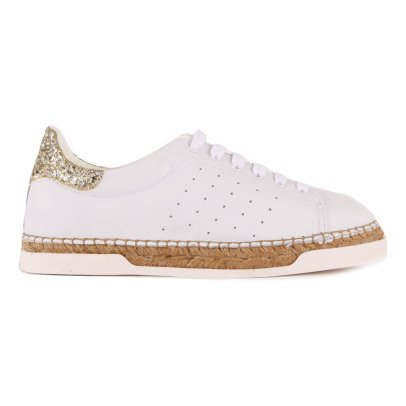 Canal St Martin Lancry Gold Glitter Trainers with Heels-listing