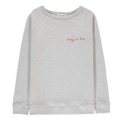 Maison Labiche Sweatshirt Crazy in Love Stickerei -listing